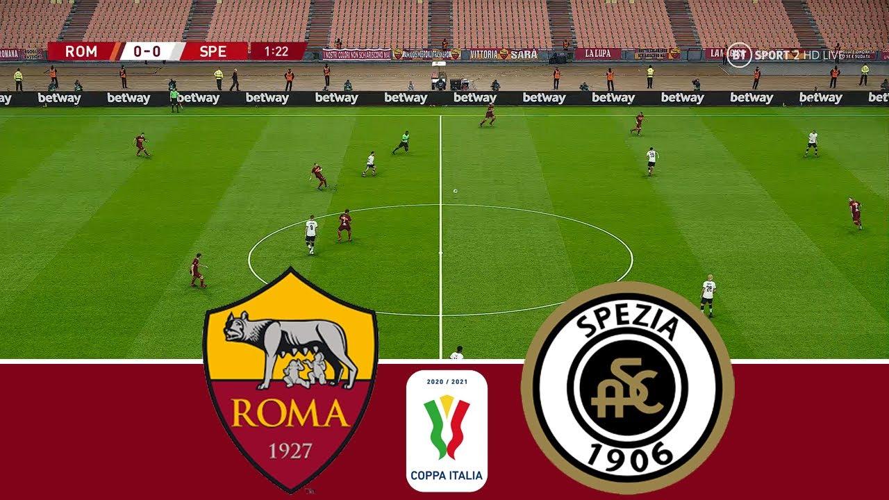 Download ROMA vs SPEZIA 2 - 4 Highlight & Goal   Coppa Italia 2020/2021