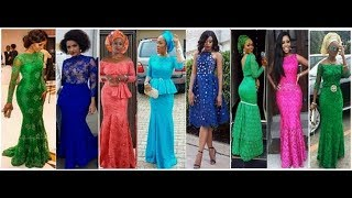 Latest Trendy Lace Gown Styles For Nigerian /African Women