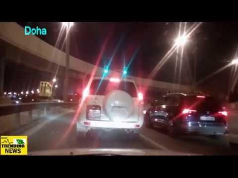 'E' Ring Road ExPressWay Doha Qatar Today Night Drive Video