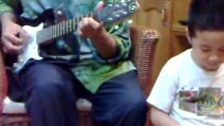 Kain songket (lagu tradisional melayu) - guitar solo...