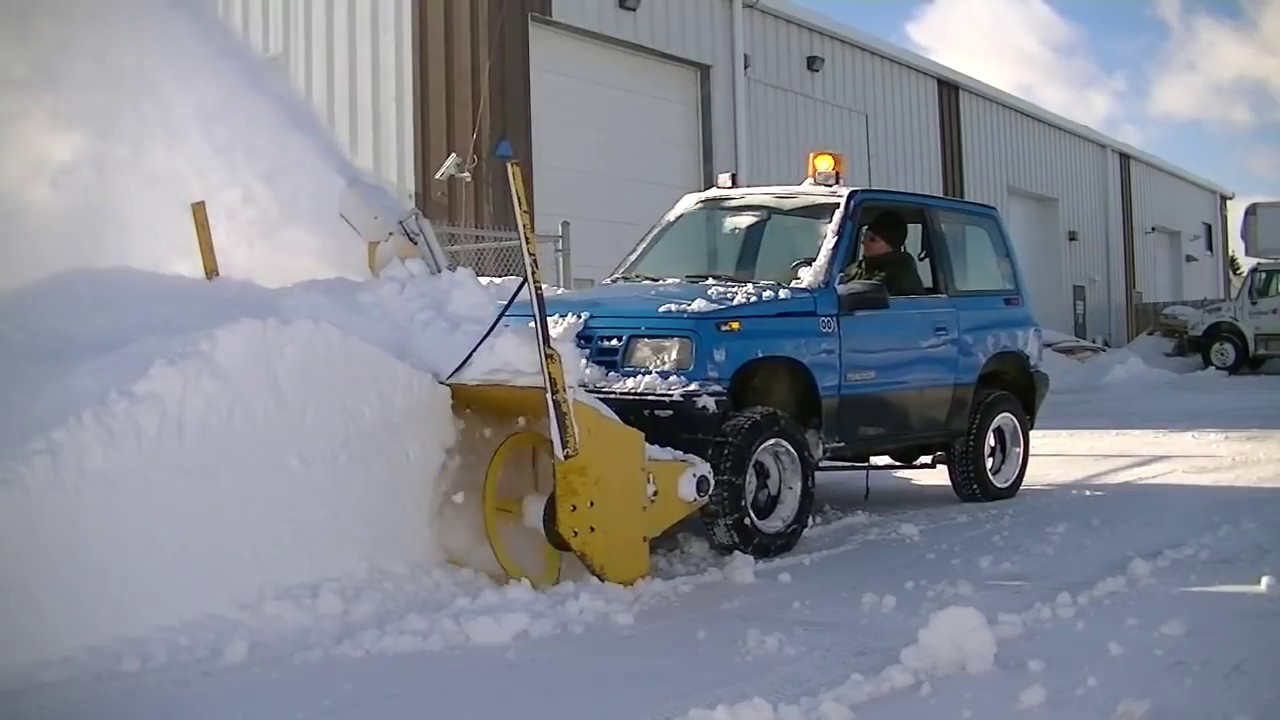 homemade truck snowblower chevrolet tracker  [ 1280 x 720 Pixel ]
