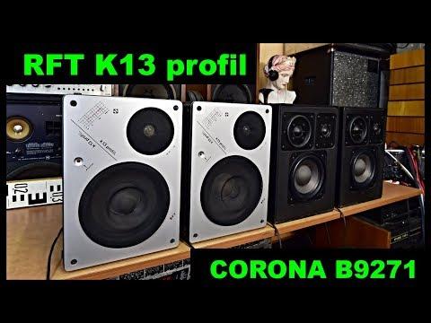 RFT K13 Profil - RFT B 9271 CORONA Lautsprecherbox Kompaktbox Speakers Loa वक्ताओं