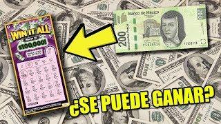 ¿SE PUEDE GANAR LA LOTERIA CON 200 PESOS? | RASCA Y GANA
