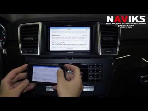 2013 Mercedes Benz M-Class W166 ML550 NAVIKS HDMI Video Integration Add Rearview Caemra, Smartphone