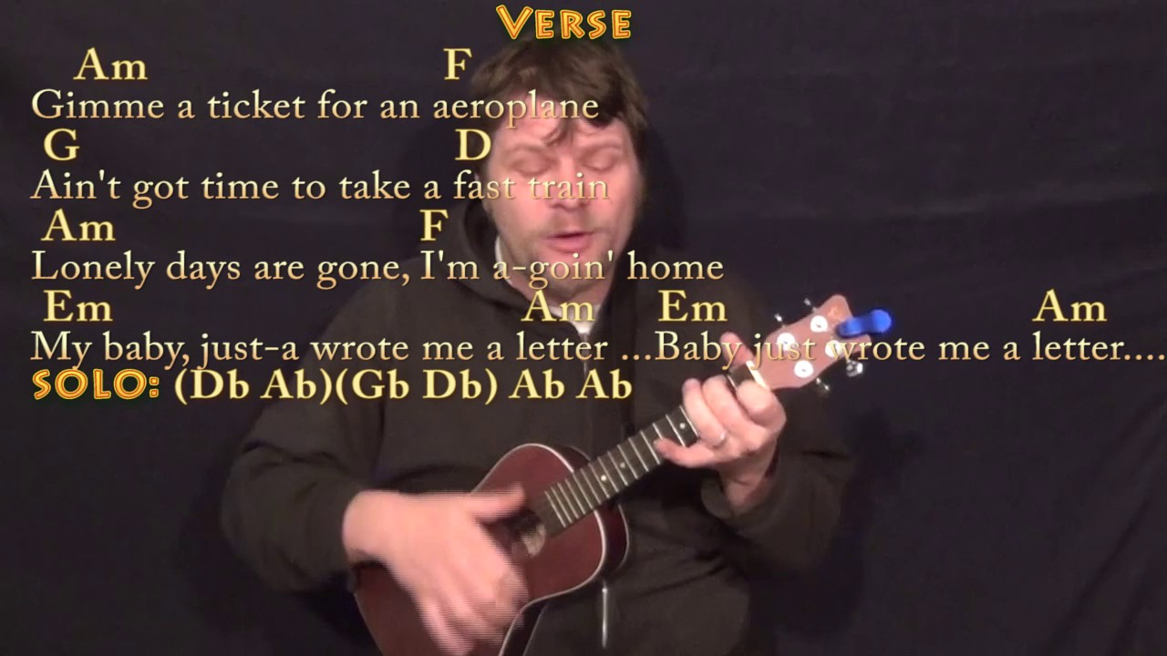 The Letter The Box Tops Ukulele Cover Lesson with Chords Lyrics