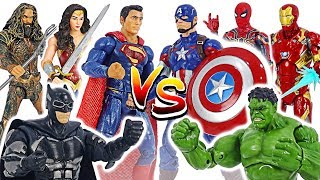 Who will win? Marvel Avengers VS DC Justice League battle! | DuDuPopTOY