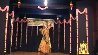 Anurekha Ghosh performs Classical Kathak to a Rabindrasangeet - Sawan Gagane Ghor Ghanaghata