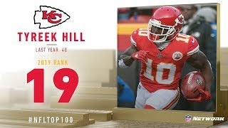 #19: Tyreek Hill (WR, Chiefs) | Top 100 Players of 2019 | NFL