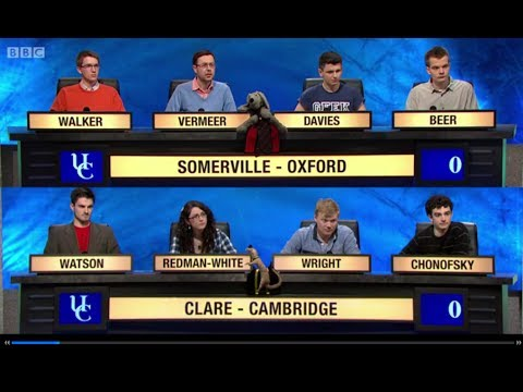 University Challenge S43E27  Somerville, Oxford vs  Clare, Cambridge