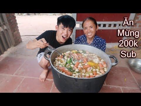 Bà Tân Vlog - Làm Nồi Lẩu Siêu Cay Khổng Lồ Ăn Mừng 200.000 Subscribe