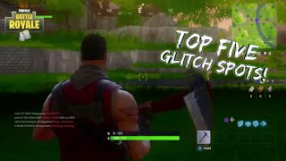 5 BEST FORTNITE GLITCHES & HIDING SPOTS ON FORTNITE! UNDER MAP / WALL BREACH / GODMODE GLITCHES