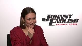 Olga Kurylenko JOHNNY ENGLISH 3 INTERVIEW