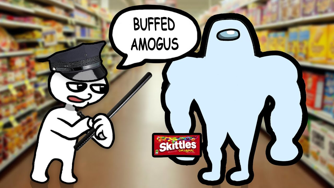 Buffed Amogus with Skittles