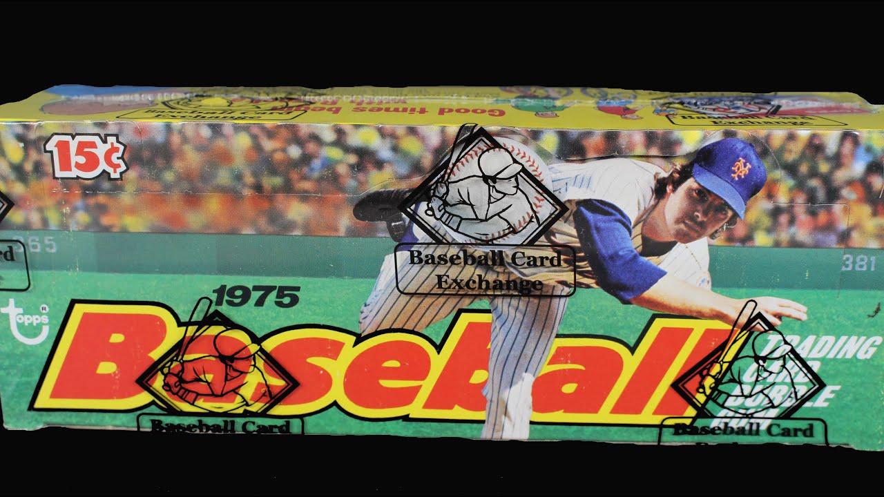 1975 Topps Baseball Wax Pack Box Opening Break Sealed Case Mint Sports Cards George Brett Rookie
