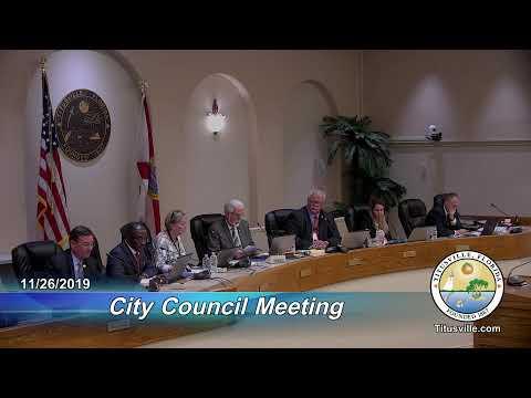 City Council Meeting — 11/26/2019 - 6:30 p.m.