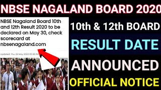 Nagaland Board NBSE 10th 12th Results 2020 to be declared on may 30/NBSE Result date Out 2020.