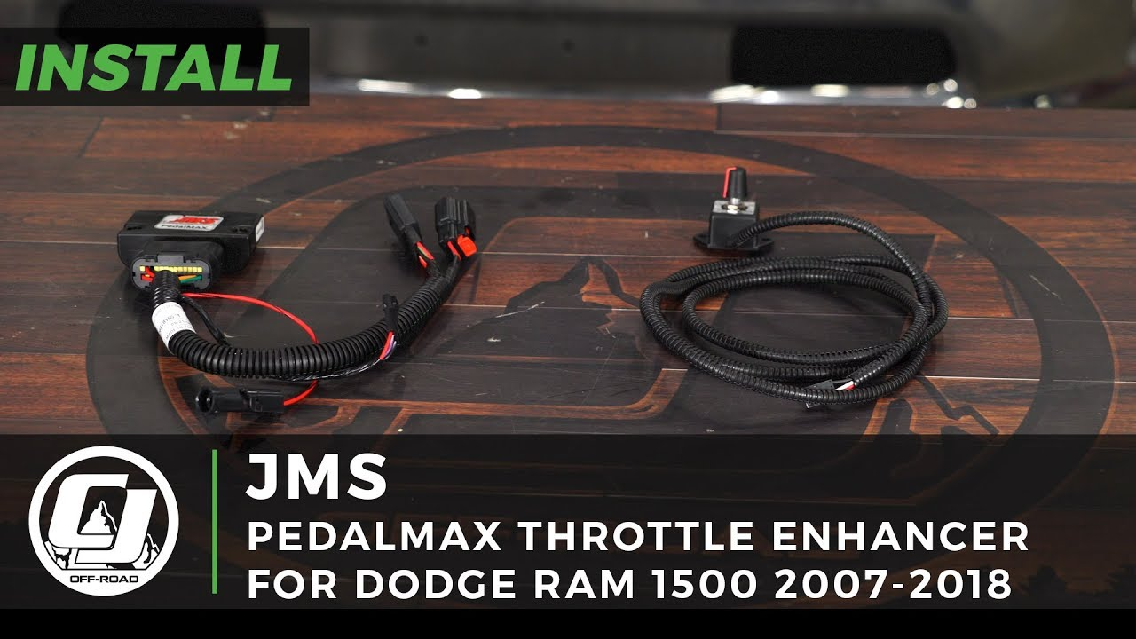 Dodge Ram Install: JMS PedalMAX Plug-N-Play Drive-By-Wire Throttle ... trailer brake controller wiring color code YouTube