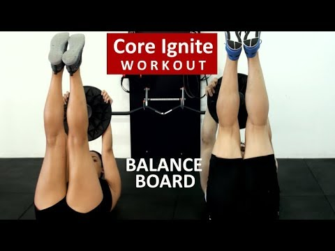 Core Ignite High Intensity Abs Workout - Balance Board