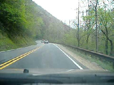 Driving on US route 19 south of Cherokee, NC