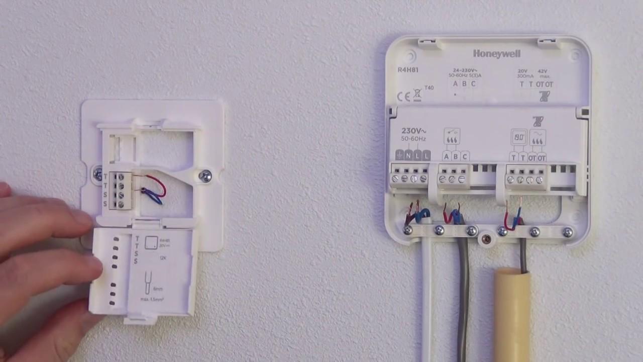honeywell wiring diagram 2 gang way light switch thermostaat vervangen door de lyric t6 | home - youtube