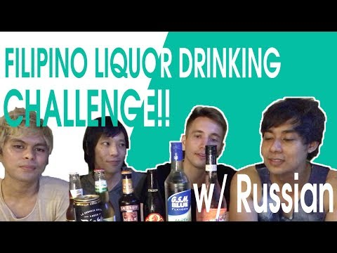 【Special Collabo】FILIPINO LIQUOR DRINKING CHALLENGE with Russian  featuring