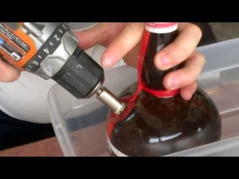 How to make a liquor bottle bong