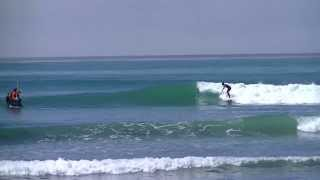 Sebastian Zietz Wins - Trestles World Tour Surfing Event 2013 - Round 2 Heat 9