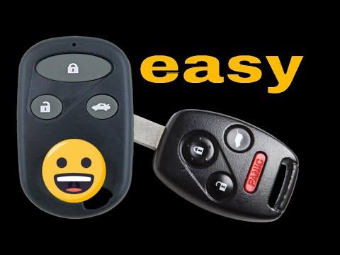 How to program Honda Civic Hybrid keyless entry remote control Fob FCC ID:NHVWB1U523