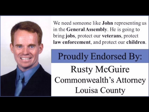 Louisa Commonwealth's Attorney Endorses John McGuire