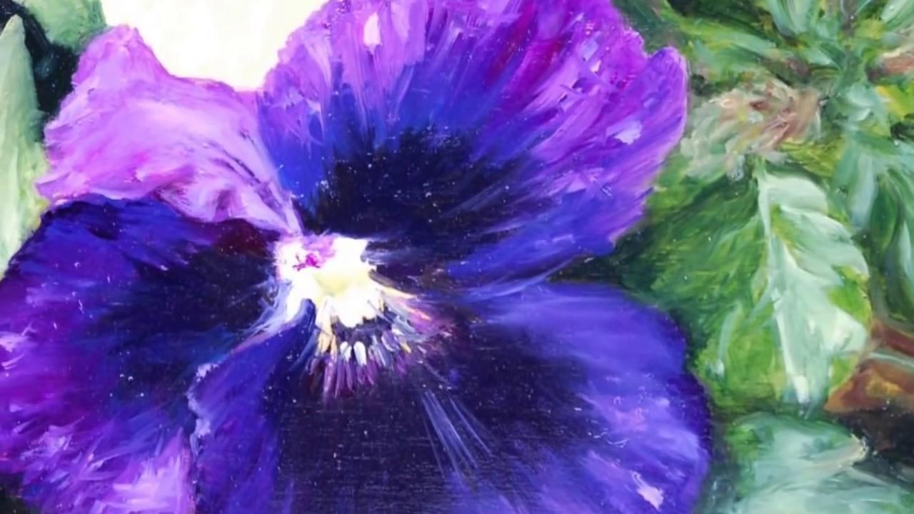 fiori pittura a olio youtube