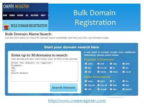 Bulk Domain Registration 2