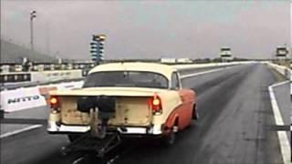 Hot Rod Drag Week Unlimited Cars In Houston, Joe Barry 56 Chevy
