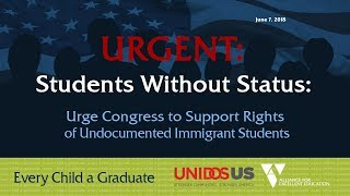 Urge Congress to Support Rights of Undocumented Immigrant Students