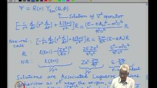 Mod-01 Lec-03 Coupling to electromagnetism, Solution of the Coulomb problem