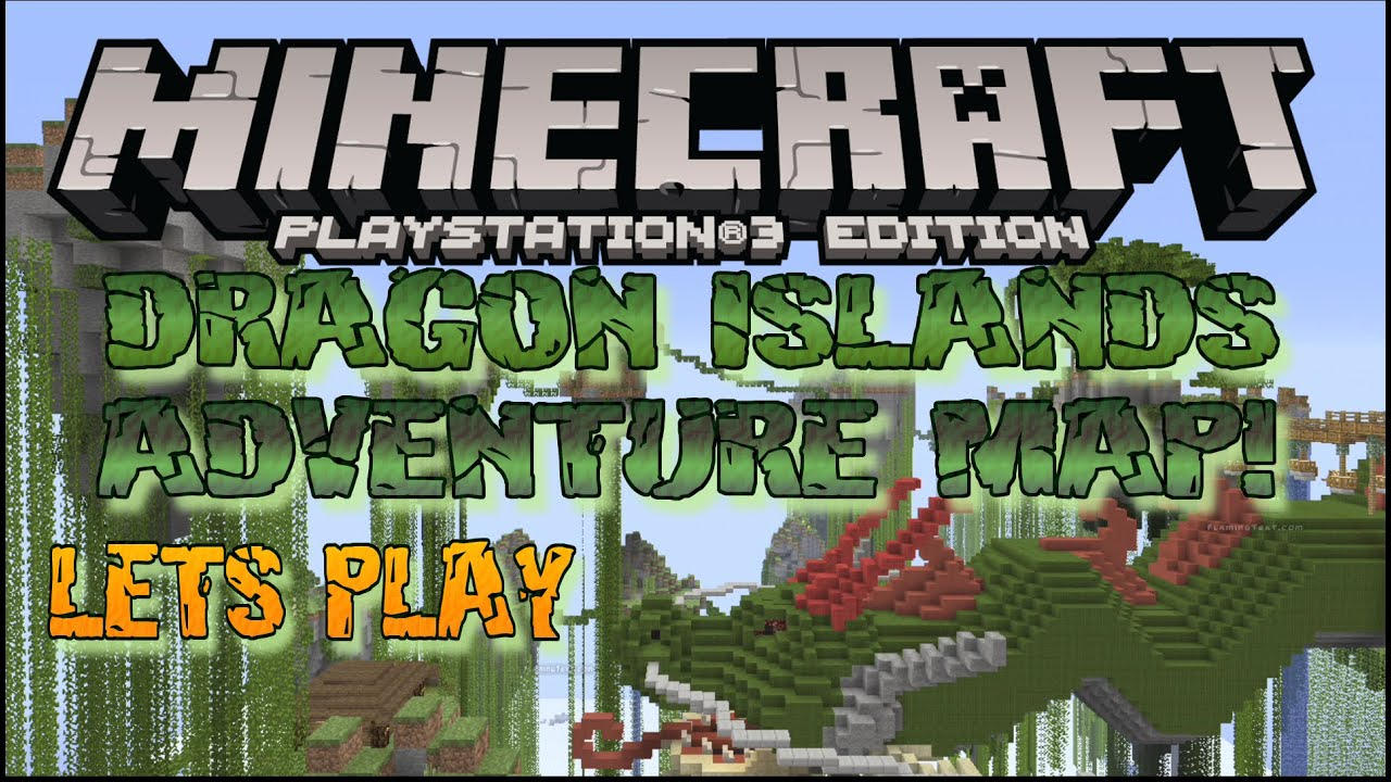 DRAGON ISLAND ADVENTURE MAP LETS PLAY MINECRAFT PS3 PS4 EU US