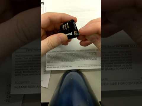 TSA 002 lock opened with paperclip