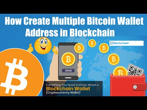 How Create Multiple Bitcoin Wallet Address In Blockchain | BTC Tutorial
