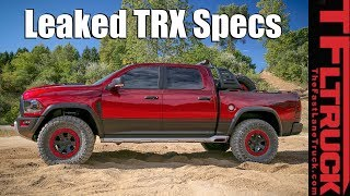 Breaking News: 2021 Ram TRX Engine, Shocks, Tires, and More (Unofficial)