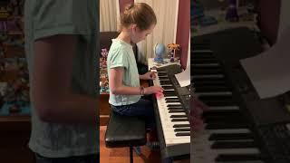 Hazel performing on Piano!
