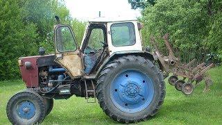 Вторая обработка картофеля трактором. Рыхление с окучиванием. Культиватор КОН-2,8.