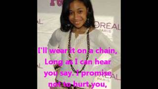 Tiffany Evans ft Ciara-Promise Ring Lyrics