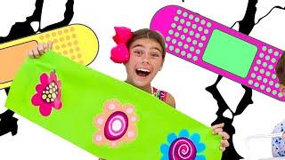 ناستيا وميا قصة مضحكة مع ملصقات ملونة