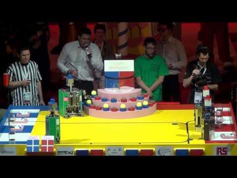 2013 - Finale n°1/3 - Université d'Angers 112 vs 112 RCVA - Coupe de France de robotique 2013