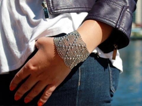 Liquid Metal - Mesh Cuff Bracelet