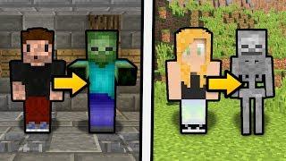 ZIOMBIE i SZKIELET AGU! - Minecraft Skin - Narysuj siebie!