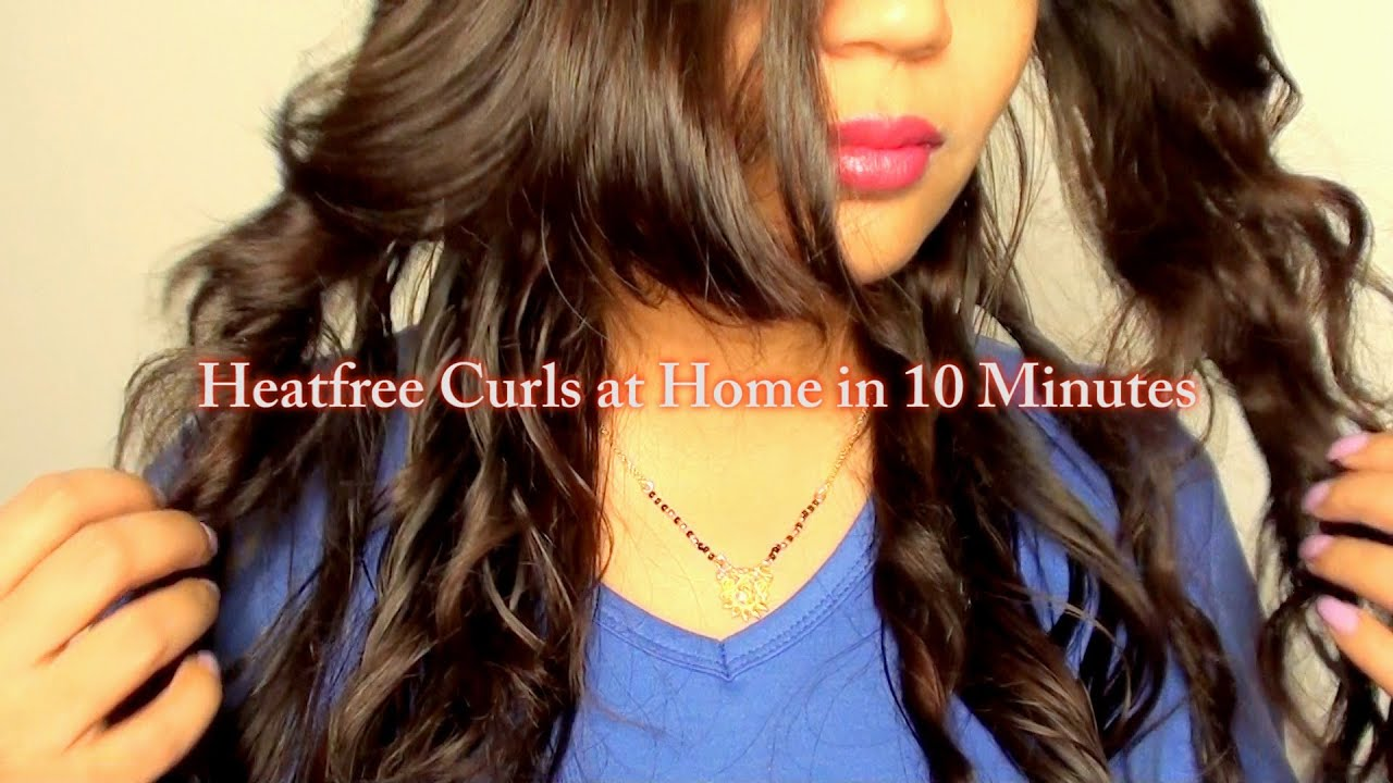 How To Style Curly Hair Without Heat Hairstyle No Heat Curls Without Heat Hair Tutorial  No Braids Or .