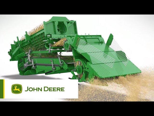 S700 - W pełni zautomatyzowany kombajn - przepływ materiału | John Deere
