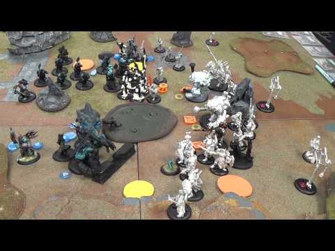 Warmachine Hordes Videocast: Trollkin eDoomshaper vs Protectorate of Menoth Kreoss3
