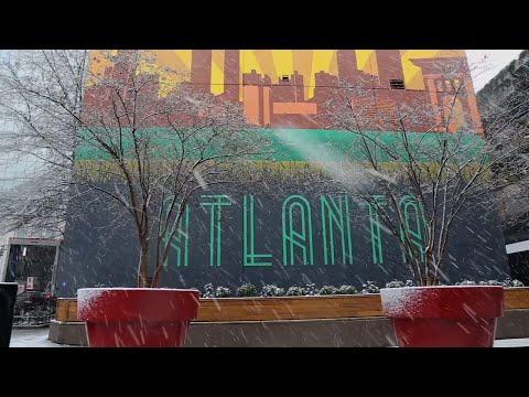 Snow Blankets Metro Atlanta