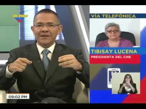 Presidenta del CNE, Tibisay Lucena, entrevistada por Ernesto Villegas este 28 de julio